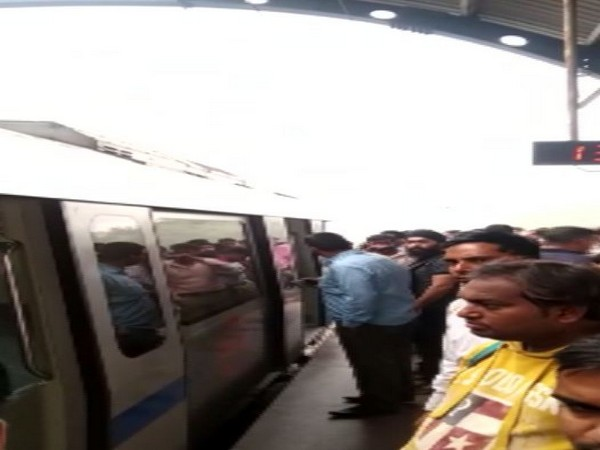 Passengers travelling in Delhi Metro were evacuated on Friday after reports of burning smell here.
