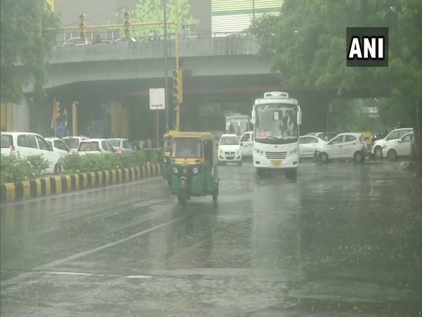 Visuals of rains from Moti Bagh, New Delhi.