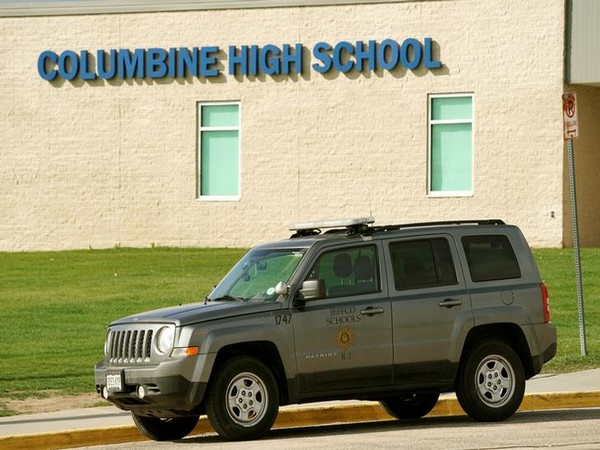 A security vehicle sits outside Columbine high school as some Denver area schools have closed (photo/ Reuters Pictures)