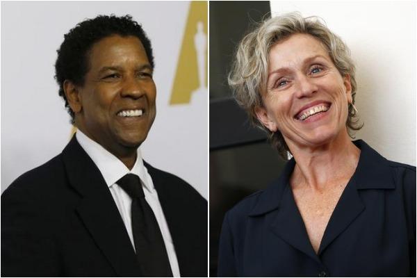 Denzel Washington and Frances McDormand