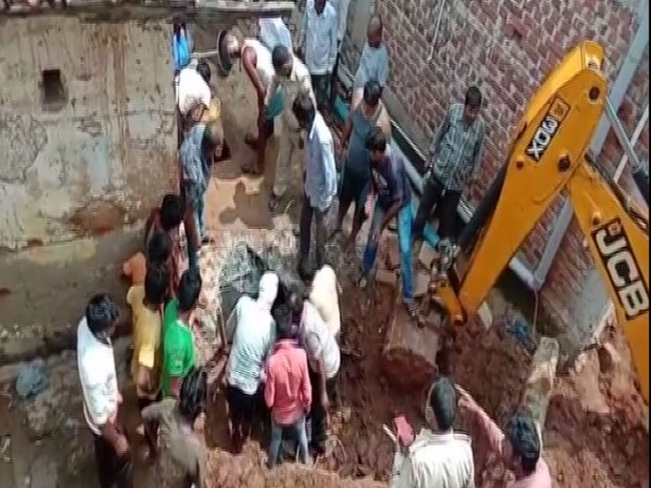 Visual of the incident sitein Deoghar on Sunday. (Photo: ANI)