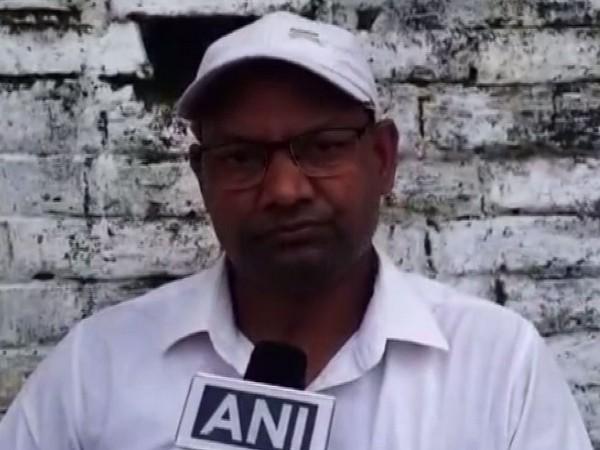 Prem Shankar Ram, Block Education Officer talking to ANI in Mirzapur on Monday