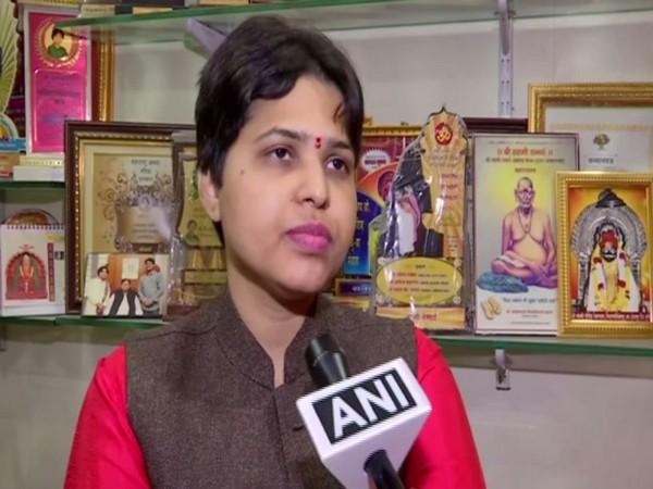 Women right activist Trupti Desai talking to ANI in pune on Friday