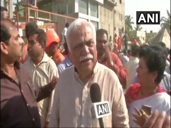Karnataka Revenue Minister RV Deshpande talking to ANI in Dharwad on Wednesday.