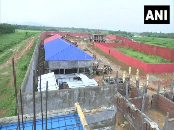 Visuals of the detention centre being constructed in Assam.
