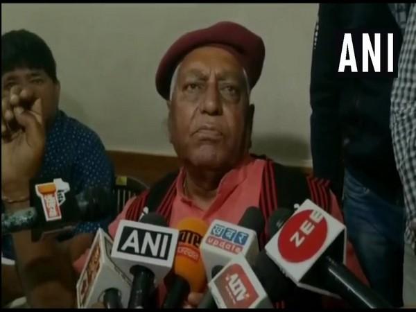 veteran BJP leader talking to media persons on Friday at Bikaner