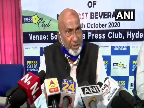 MagFast Beverages Chairman Syed Ghaziuddin during a press conference in Hyderabad on Monday. (Photo/ANI)