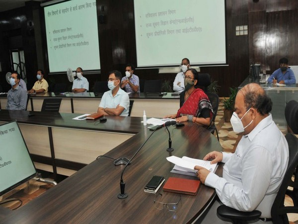 Uttarakhand Chief Secretary Om Prakash during the meeting