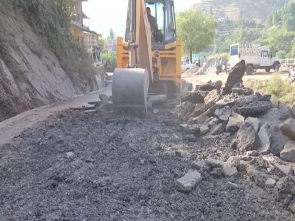 Road construction. (Photo/ANI)
