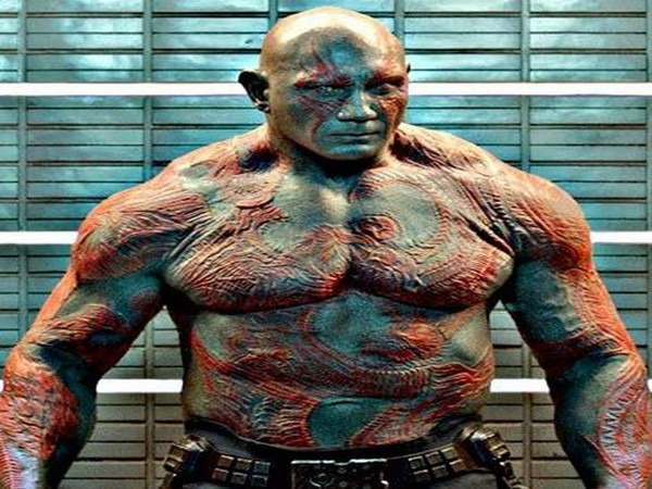 Dave Bautista as Drax the destroyer (Image source: Instagram)