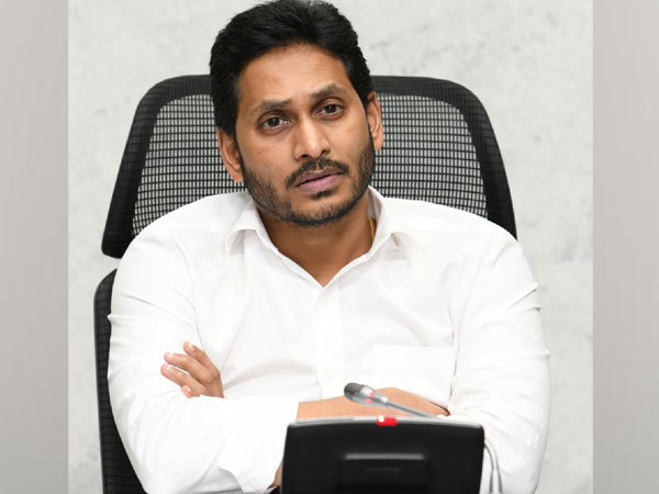 Andhra Pradesh Chief Minister YS Jaganmohan Reddy during a video conference in Amaravati on Friday. (Photo/ANI)