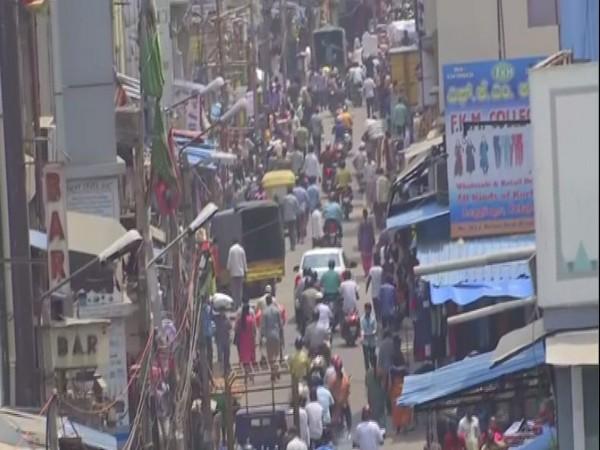 Rush at Bengaluru's KR market on Ram Navami