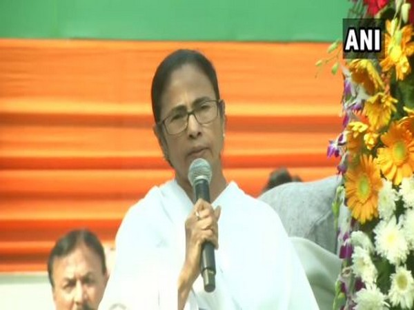 West Bengal Chief Minister Mamata Banerjee speaking in Kolkata in West Bengal on Friday. Photo/ANI
