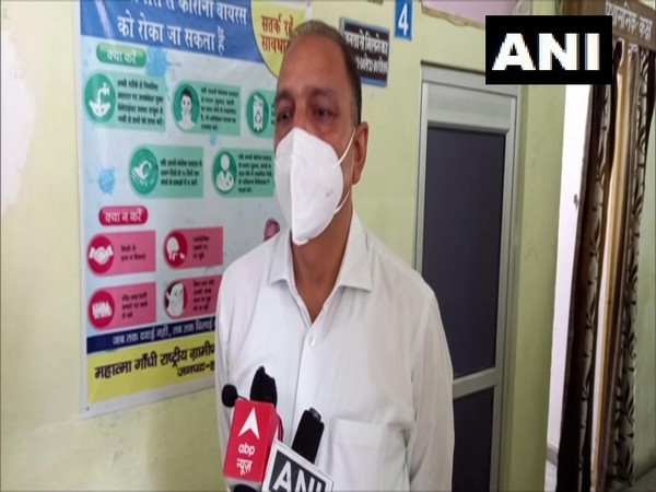 Haridwar Health Officer Arun Singh Sengar speaking to reporters on Tuesday.
