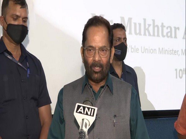 Union Minister for Minority Affairs Mukhtar Abbas Naqvi (file pic/ANI).