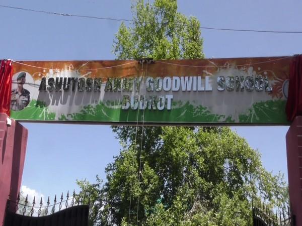 School name board changed to 'Ashutosh Army Goodwill School' (Photo/ANI)