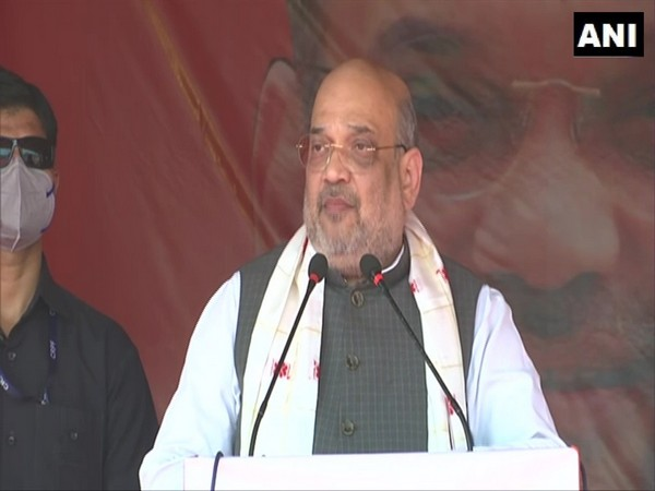 Union Home Minister Amit Shah addressing a public gathering in Assam's Dhemaji.