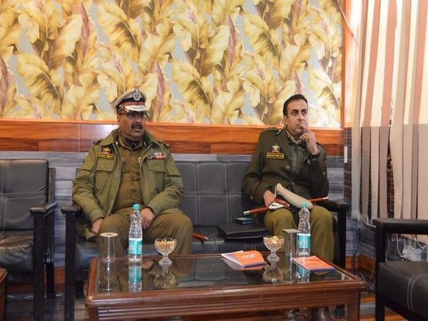 Director General of Police Dilbag Singh in Kupwara in Jammu and Kashmir on Wednesday. Photo/ANI