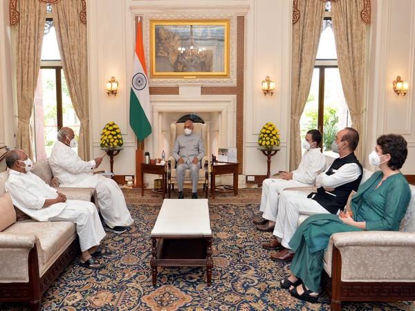 President met Congress delagation on Lakhimpur Kheri incident (Photo: Twitter/President of India)