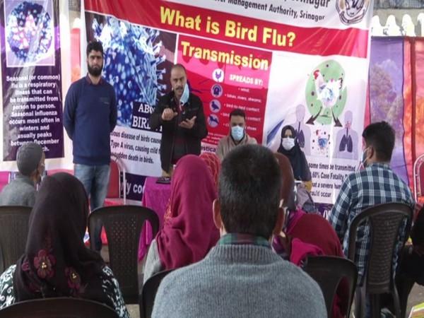 Bird flu awareness campaign in Srinagar (Photo/ANI)