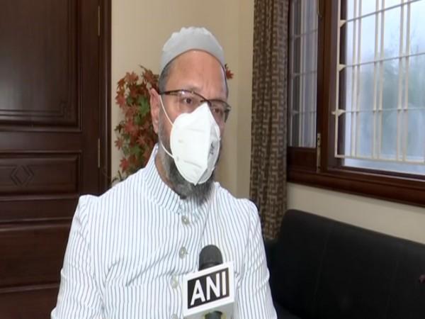 All India Majlis-e-Ittehadul Muslimeen (AIMIM) Chief Asaduddin Owaisi (file pic/ANI).