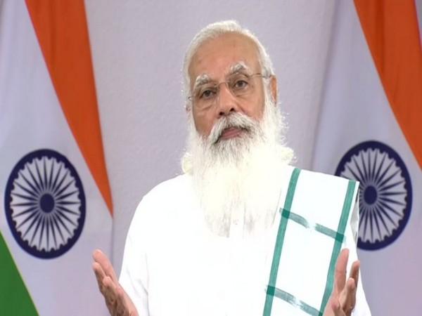 PM Modi speaking at the Toycathon 2021 on Thursday. (ANI)