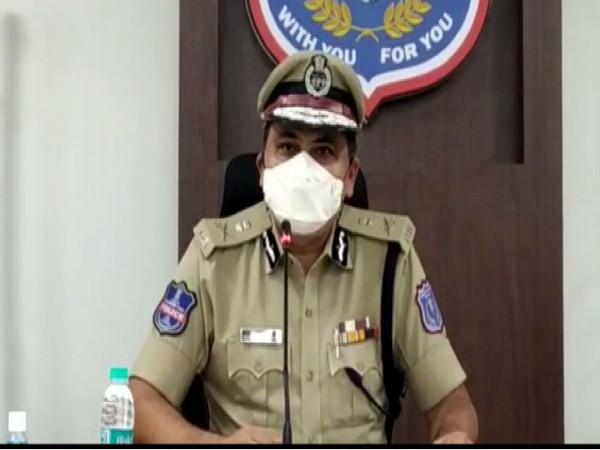 Telenagan police offical during PC (Photo/ANI)