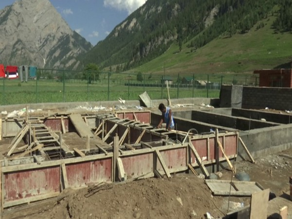 A visual of an under construction site in Gurez valley (Photo/ANI)