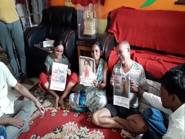 Grieving family of Nagsen Aman in Bihar's Gaya (Photo/ANI)