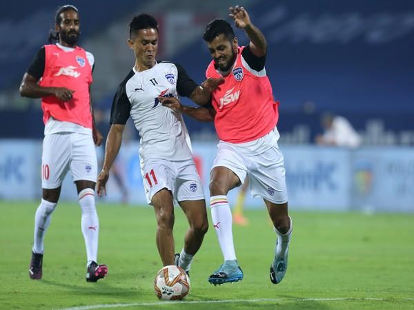 Sunil Chhetri will aim to score his second goal of the season against NEUFC (Photo/ ISL)