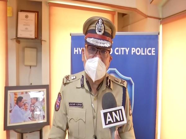 Hyderabad City Police Commissioner Anjani Kumar (Photo/ANI)