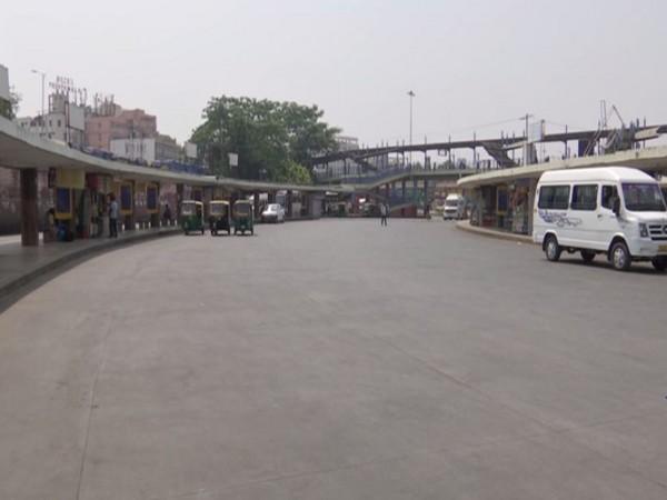 Visual from a bus terminal in Bengaluru