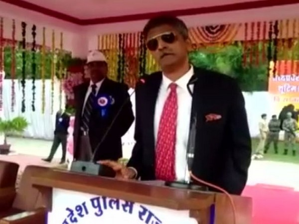 Vijay Singh Yadav, DG SPF addressing police personnel at shooting competition in Indore on Friday