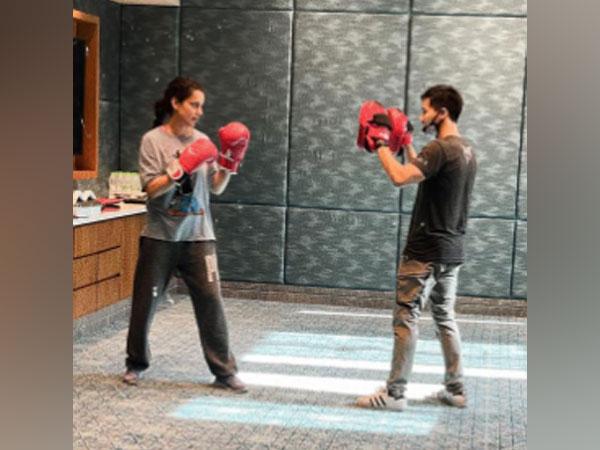 Actor Kangana Ranaut undergoing action training (Image Source: Instagram)