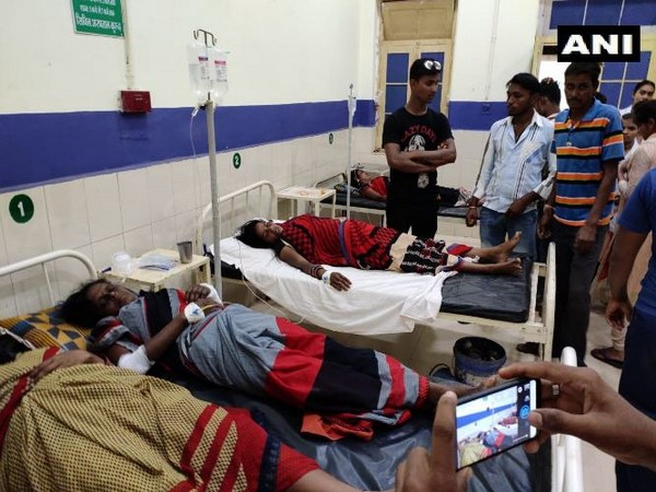 The injured women are underway treatment in the hospital in Dhamtri in Chattisgarh. Photo/ANI