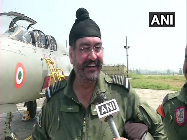 IAF Chief BS Dhanoa talking to ANI at Pathankot Airbase on Monday