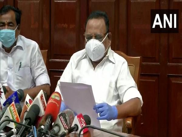 Speaker P Dhanapal addresses media in Chennai on Tuesday. [Photo/ANI]