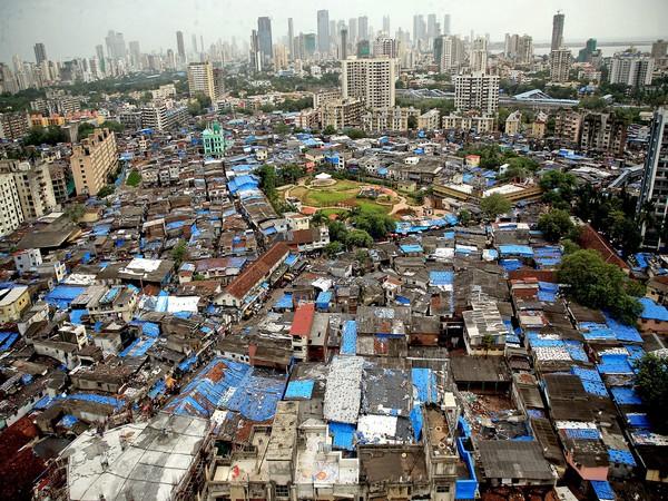 Bird's eye view of Dharavi slum area in Mumbai on July 25. (Photo/ANI)