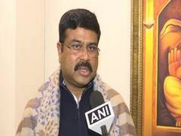 Union Minister Dharmendra Pradhan speaking to ANI in Kolkata, West Bengal, on Tuesday. Photo/ANI