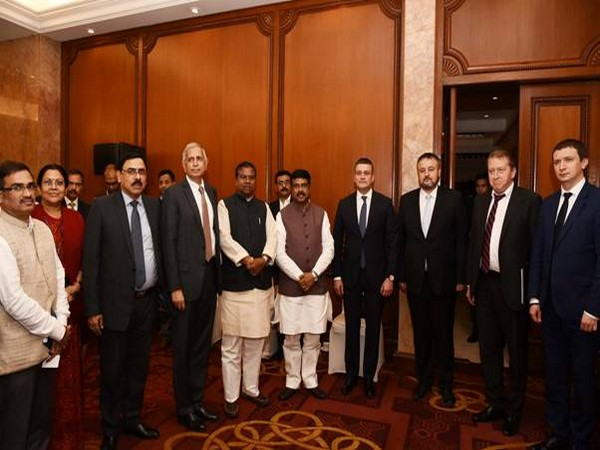 Union Minister Dharmendra Pradhan with the Russian Delegation in New Delhi on Tuesday