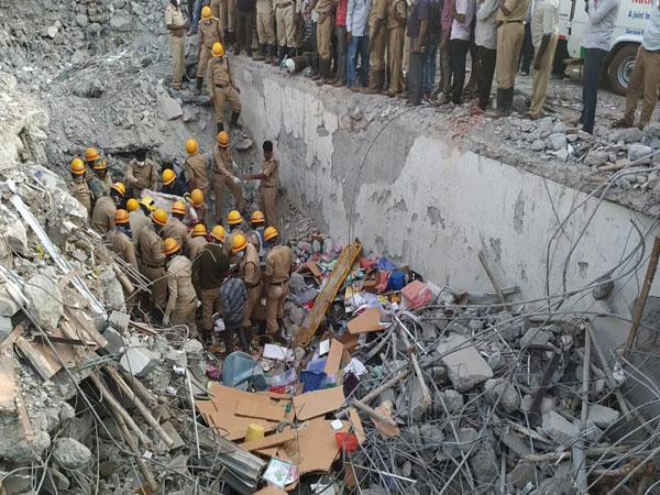 Rescue operation underway at building collapse site in Dharwad, Karnataka