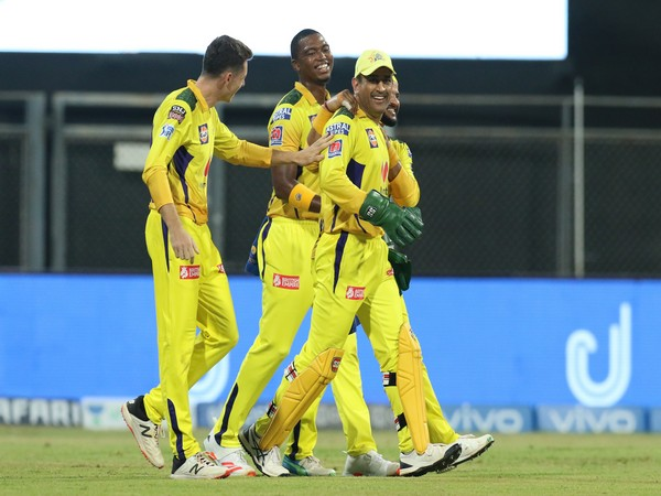 CSK players in action in the IPL. (Image courtesy: CSK Twitter)