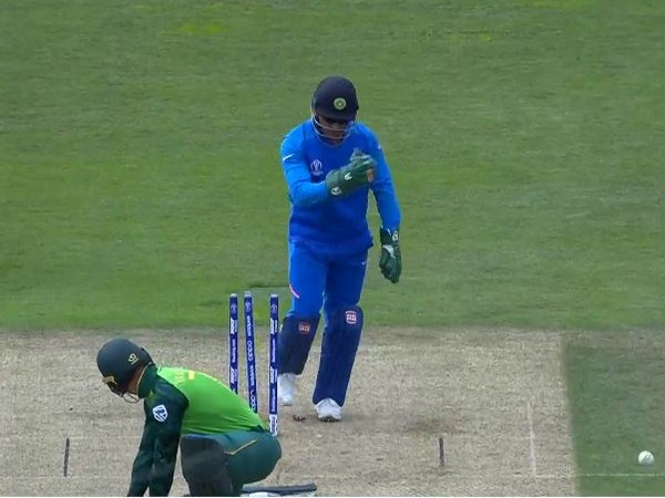 MS Dhoni in action against South Africa