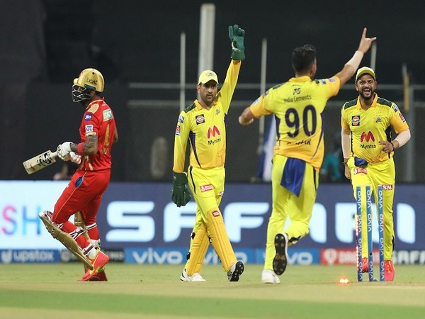 CSK players celebrating wicket of KL Rahul (Image: BCCI/IPL)