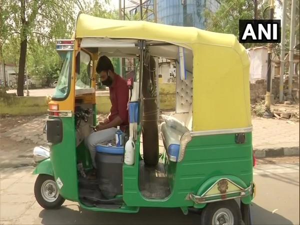 Javed Khan's ambulance-like auto (Photo/ANI)