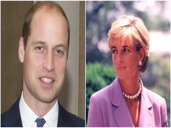 Prince William and late Princess Diana