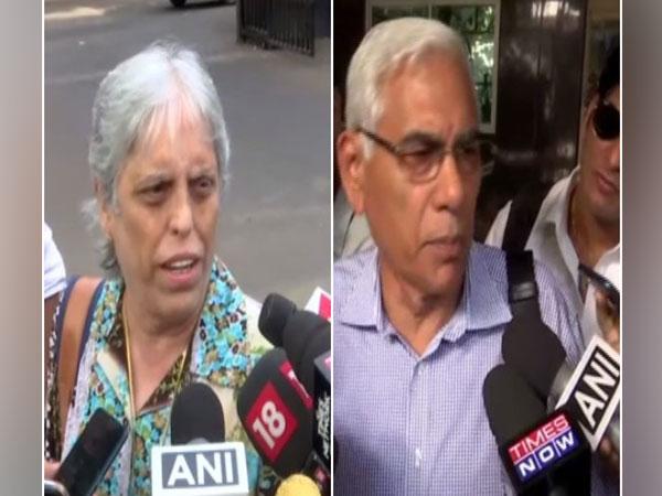 Diana Edulji (L) and Vinod Rai (R)