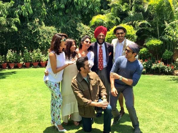 Priyanka Chopra, Shefali Shah, Milkha Singh, Farhan Akhtar and Anil Kapoor (Image courtesy: Twitter)