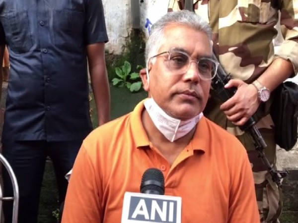 West Bengal BJP president Dilip Ghosh speaking to ANI.