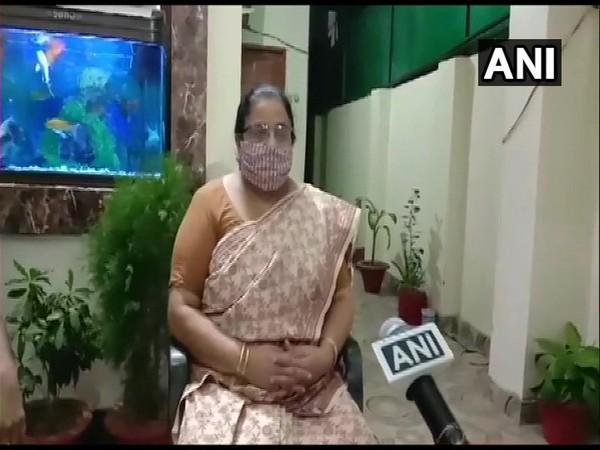 Bihar State Women Commission President Dilmani Mishra speaking to ANI on Wednesday. (Photo/ANI)